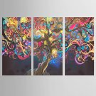 Giclee Print Abstract Modern Classic,Three Panels Canvas Vertical Print Wall Decor For Home Decora