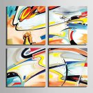 E-HOME Stretched Canvas Art Abstract Decoration Painting Set of 4