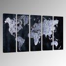 VISUAL STARAbstract World Map Wall Picture Printing on Canvas Modern Wall Decor Canvas Art Ready t