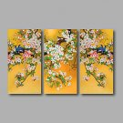 Stretched Canvas Print Three Panels Canvas Wall Decor Home Decoration Abstract Modern Flowers Bird