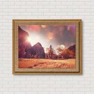 Art Print Famous Landscape Classic Realism,One Panel Horizontal Panoramic Print Wall Decor For Hom
