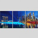 Canvas Set Of 3 Modern Wall Painting Lake Scenic Canvas Art Pictures Print Painting Wedding Home D