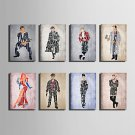 E-HOME Stretched Canvas Art A Man Of Letters Series Decoration Painting MINI SIZE One Pcs