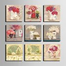 E-HOME Stretched Canvas Art  Bunch Of Flowers In A Vase Series Decoration Painting MINI SIZE One P