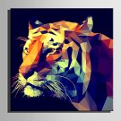 E-HOME Stretched Canvas Art Geometry of The Tiger Decoration Painting One Pcs