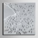 E-HOME Stretched Canvas Art People On The Beach Decoration Painting One Pcs