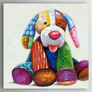 Oil Painting a Dog by Knife Hand Painted Canvas Painting with Stretched Framed Ready to Hang