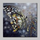 Hand-Painted Butterfly Animal Oil Painting On Canvas Modern Abstract Wall Art Pictures For Home De