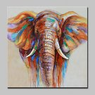 100% Hand-Painted Elephant Animal Oil Painting On Canvas Modern Abstract Wall Art Pictures For Hom