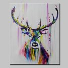 Lager Handpainted Deer Animal Oil Painting On Canvas Wall Art For Living Room Home Decor Wall Pain