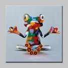 Lager Hand Painted Monastery Frog Animal Oil Painting On Canvas Wall Art Picture For Home Decor Wh