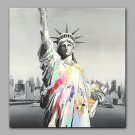 Hand-Painted The Greek Statue Of Liberty Modern  Canvas Oil Painting For Home Decoration