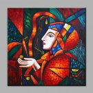 Oil Painting Modern Abstract Pure Hand Draw Ready To Hang Decorative Hope Goddess Portrait