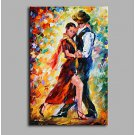 Midnight Tango 100% Hand Painted Contemporary Oil Paintings Modern Artwork Wall Art for Room Decor