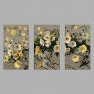 Hand-Painted Modern Rose Flower & Plants Oil Painting Three Panel Canvas Oil Painting Multi Split
