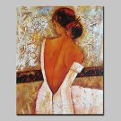 Big Size Hand-Painted Bare Back Girl Oil Painting On Canvas Modern Abstract Wall Art Picture For H