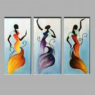 Oil Painting Modern Abstract Pure Hand Draw Ready To Hang Decorative The Woman Of The Dancing Set