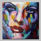 Modern Abstract Hand Painted Figure Oil Painting On Canvas Wall Art With Stretched Frame Ready To