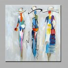 Oil Painting Modern Abstract Pure Hand Draw Ready To Hang Decorative The Abstract Women Oil Painti