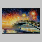 Hand Painted Knife Landscape Oil Paintings On Canvas Modern Abstract Wall Art Pictures For Home De