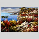Oil Paintings Modern Sea View Canvas Material with Stretched Frame Ready To Hang SIZE60*90CM.