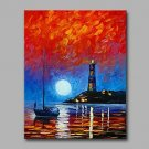 Beacon at the end of the World 100% Hand Painted Contemporary Oil Paintings Modern Artwork Wall Ar