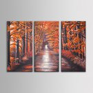 IARTS Oil Painting Modern Landscape Red Trees Wall Art Set of 3 Hand Painted Canvas with Stretched