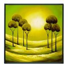 Landscape India's Forest Framed Oil Painting