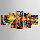 IARTSOil Paintings Set of 5 Modern Abstract Landscape in the Rain Hand-painted Canvas Ready to Han