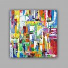 Hand-Painted Abstract 100% Hang-Painted Oil PaintingModern / Classic One Panel Canvas Oil Painting