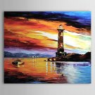 Hand-Painted LandscapeModern / Traditional One Panel Canvas Oil Painting For Home Decoration