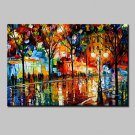 Modern Abstract Hand-painted Landscape Oil Paintings On Canvas Wall Art With Stretched Frame Ready