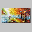 Large Size Hand-Painted Modern Abstract Knife Landscape Oil Painting On Canvas With Stretched Fram