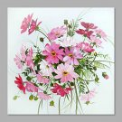 IARTS Hand Painted Abstract Charming Daisy Bouquet Floral Oil Painting with Stretched Frame Pictur