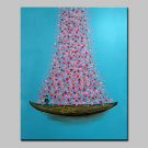 Hand-Painted Loaded With Flowers Oil Painting On Canvas Modern Abstract Wall Art Picture For Home