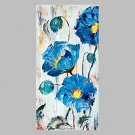 Hand-Painted Floral/Botanical Vertical Panoramic,Artistic Abstract Outdoor One Panel Canvas Oil Pa