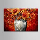 Hand Painted Canvas Oil Painting Impression Flowers Painting with Stretched Framed Ready to Hang