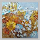 Hand-Painted Modern Abstract Flowers And Butterflies Oil Painting On Canvas Wall Art Picture For H
