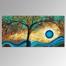VISUAL STARNew Lucky Tree Handmade Oil Painting contemporary Canvas Artwork Ready to Hang