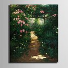 E-HOME Oil painting Modern Deep in The Jungle Pure Hand Draw Frameless Decorative Painting