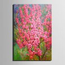Mini Size E-HOME Oil painting Modern Pink Flowers Full Of Trees Pure Hand Draw Frameless Decorativ