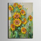 Mini Size E-HOME Oil painting Modern Sunflower Pure Hand Draw Frameless Decorative Painting