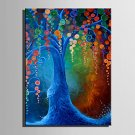 Mini Size E-HOME Oil painting Modern Color Tree Pure Hand Draw Frameless Decorative Painting