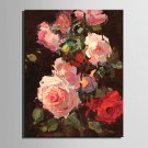 Mini Size E-HOME Oil painting Modern The Flowers In Full Bloom Pure Hand Draw Frameless Decorative