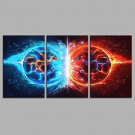 A Song of Ice and Fire 3 Panels Hand-painted Oil Paintings on Canvas Modern Artwork Wall Art for R