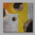 IARTS Modern Abstract Painting Texture Round Wall Art For Home Decor Stretchered Ready To Hang