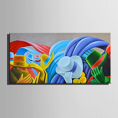 Mini Size E-HOME Oil painting Modern Gentleman's Hat Pure Hand Draw Frameless Decorative Painting