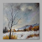 IARTS Hand Painted Oil Painting Vintage Winter Snow  Abstract Art Acrylic Canvas Wall Art For Home