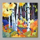 IARTS Modern Abstract Holiday Country House Oil Painting On Canvas with Stretched Frame Wall Art F