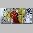3 Panels Abstract Paintings Ready 2 Hang Art Handpainted Canvas Wall Art Decorations For Living Ro